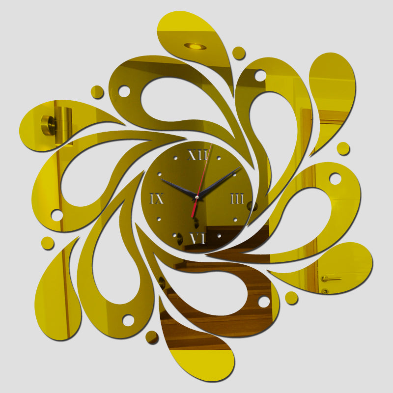 Fashion mirror wall clock