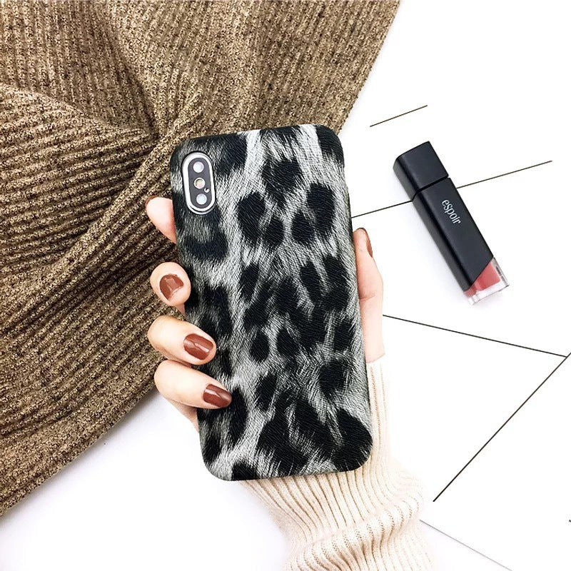 Europe and the United States new iPhone8plus mobile phone shell leopard leather Xs personality XR drop MAX protection soft cover