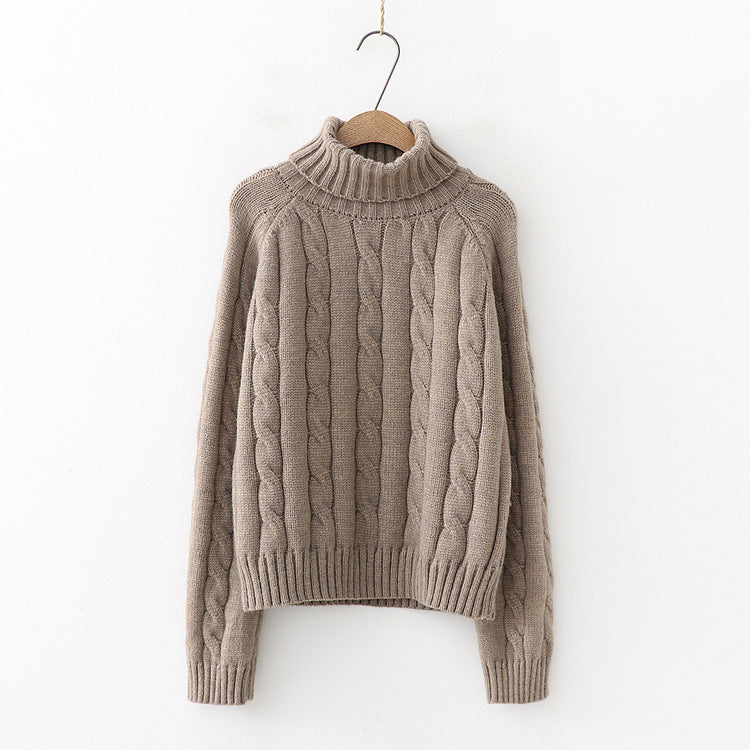 High collar bottoming sweater