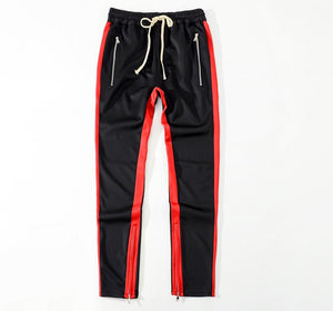 Side zip casual track pants