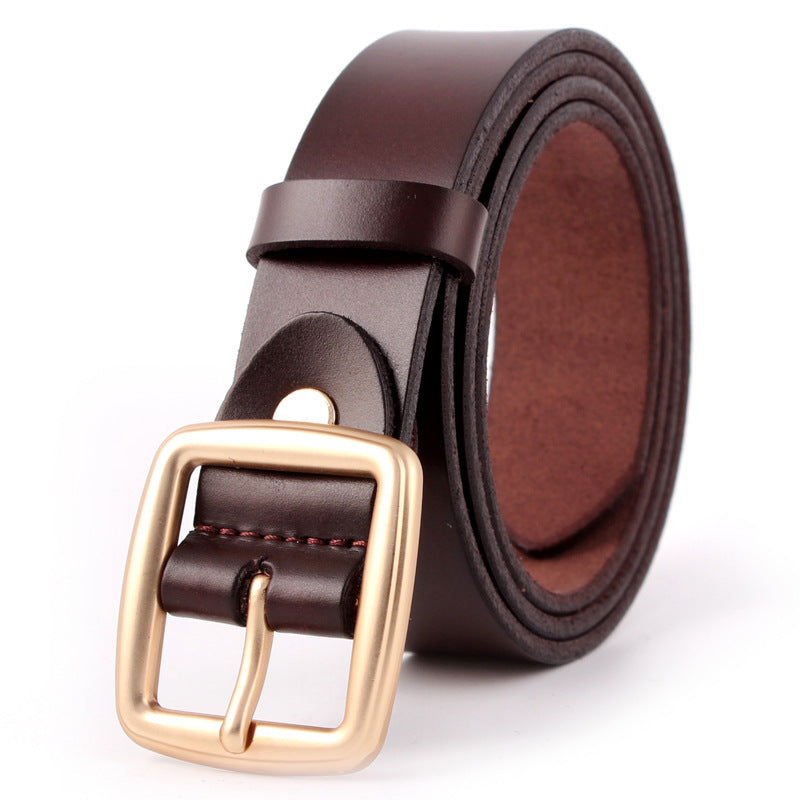 Japanese buckle leather belt