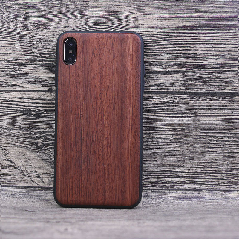 Solid wood phone case