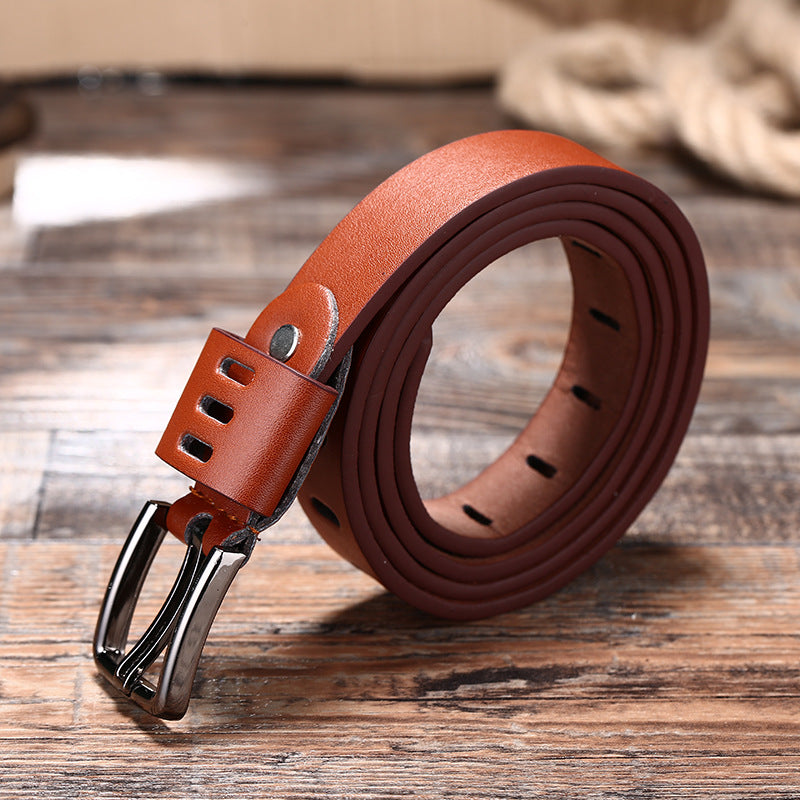 Automatic buckle belt frosted belt