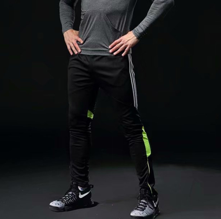 Sports pants men's trousers closed thin section spring and summer football leg training fitness running quick-drying pants