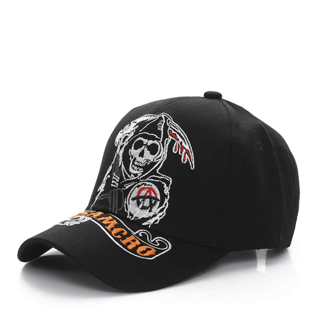 Visor Skull Embroidered Baseball Cap
