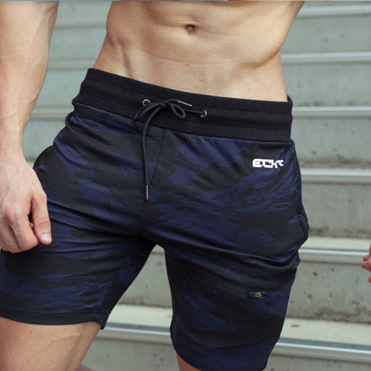 Running training, sports fitness, running, camouflage, casual, five-point shorts