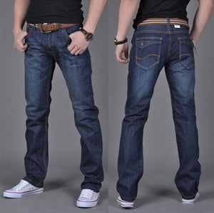 Wholesale autumn and winter foreign trade brand men's wear jeans men's cotton pure Korean men's jeans