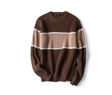 Men's 2020 autumn and winter new round neck line net red sweater Korean version of the loose sweater men's tide
