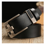 Leather belt men's pin buckle retro belt two-layer leather antique belt Trendy wild pants belt E-commerce direct supply