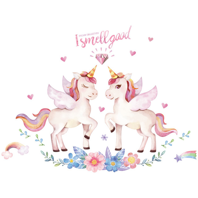 Fantasy unicorn sticker decorative wall sticker