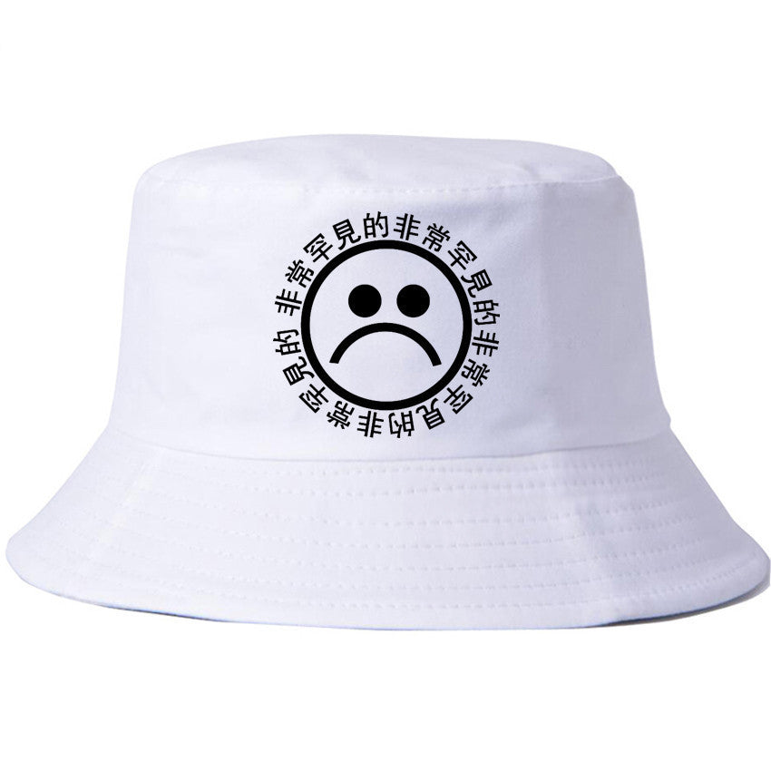 Crying face cap cotton fisherman hat