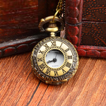 Classic fashion retro flip pocket watch female Roman numeral couple gift quartz non-mechanical electronic watch male
