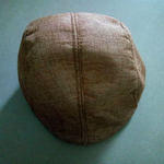 Breathable linen cotton duck tongue beret middle aged man