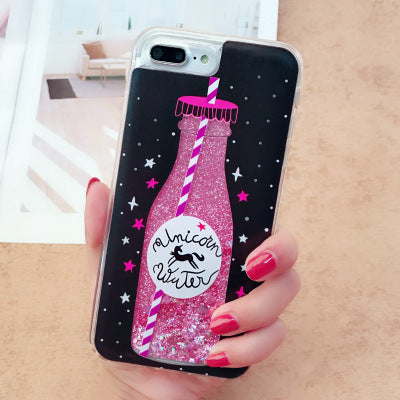 Perfume bottle quicksand cover phone case