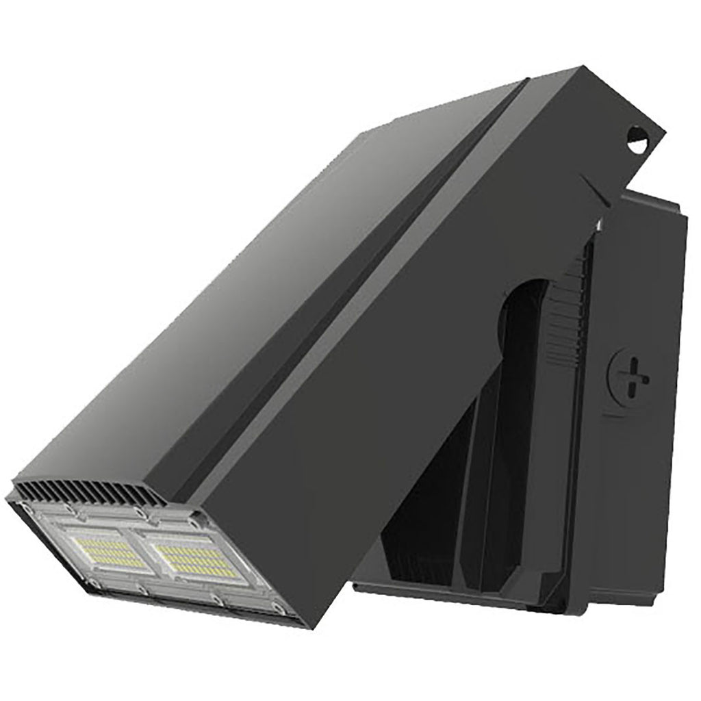LED ADJUSTABLE WALL PACK, 30W, 50W ,5000K, 3,600LM, 4680LM,120 DEGREES BEAM ANGLE, PHOTOCELL INCLUDED, AC120-277V, IP65, CRI75, ETL & DLC LISTED
