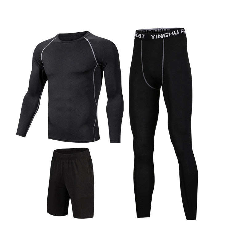Running Workout Clothes Men 7pcs / sets Compression Running Basketball Games Jogging Tights set of underwear Gym Fitness sports sets