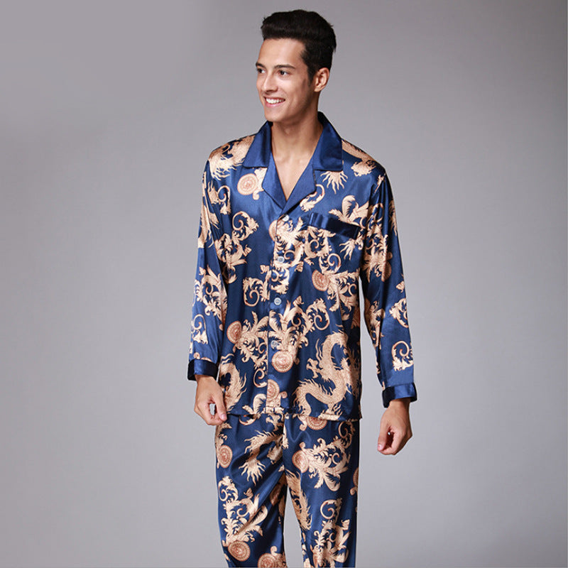 Men's Long Sleeve Pants Pajamas Set