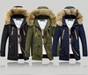 Long section cotton suit men plus velvet thick coat super large fur collar coat couple