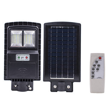 40W 80 LED Solar Street Light Radar PIR Motion Sensor Wall Timing Lamp with Remote