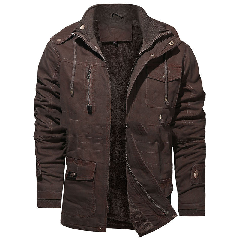 Pure cotton men's coat Retro