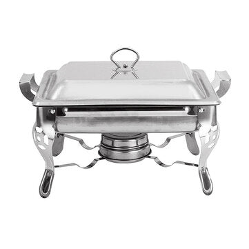 1PC 6L Stainless Steel Buffet Stove Chafing Dish Food Warmer Party Home Cater Food Warmer Buffet Stoves
