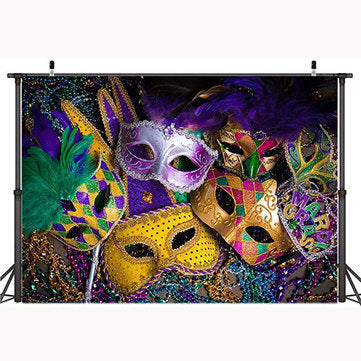 5x3FT 7x5FT 9x6FT Vinyl Holloween Mask Photography Backdrop Background Studio Prop