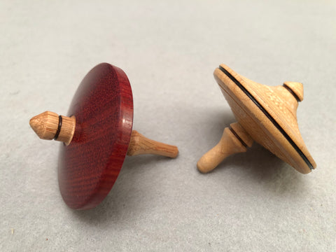 Wooden Spinning Tops Created by Master Woodturner Earl Bartell for the Annual Bellevue Arts Museum Kids' Fair