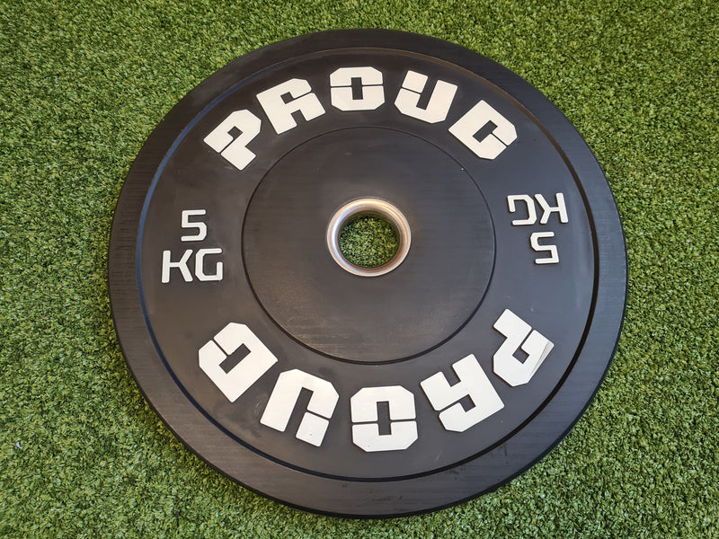 Proud Bumper Training Weight Plates Black - 5kg-25kg