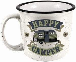 Load image into Gallery viewer, SPOONTIQUES - HAPPY CAMPER CAMPER MUG