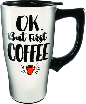 SPOONTIQUES - LET THE STRESS BEGIN TRAVEL MUG