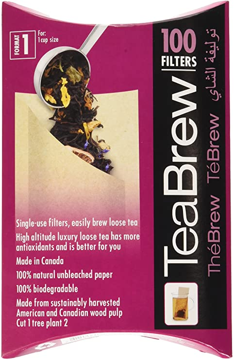 TeaBrew Filters - Loose Leaf Tea Size 1, 2, 3