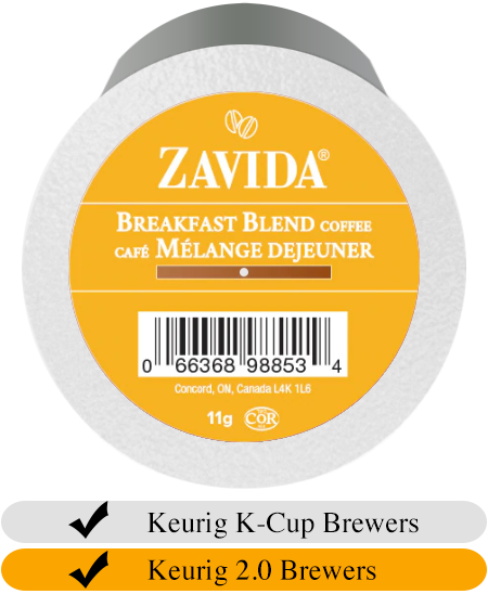 Zavida Z Cups Breakfast Blend 24 CT