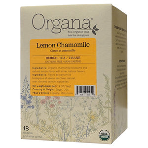 Load image into Gallery viewer, Organa Lemon Chamomile Tea Pods - 18ct