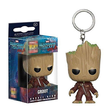 Porte Clé Pop Groot Rouge