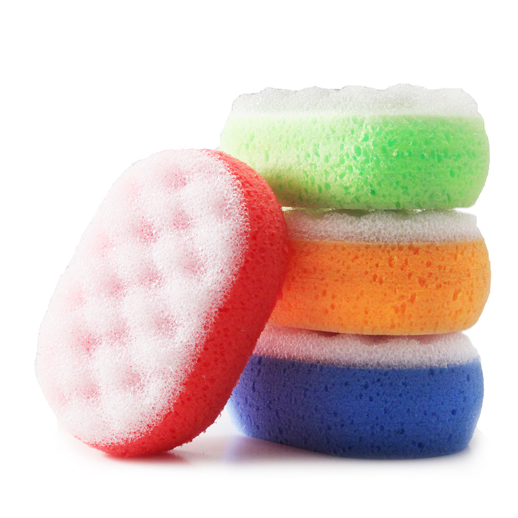 DUAL ACTION ENERGIZING BODY & BATH SPONGE - RED