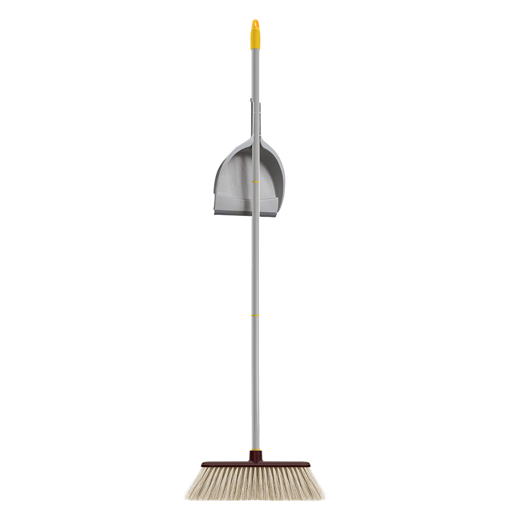 PARQUET EXTRA SOFT  BROOM WITH CLASSIC DUSTPAN AND 3 PIECE HANDLE