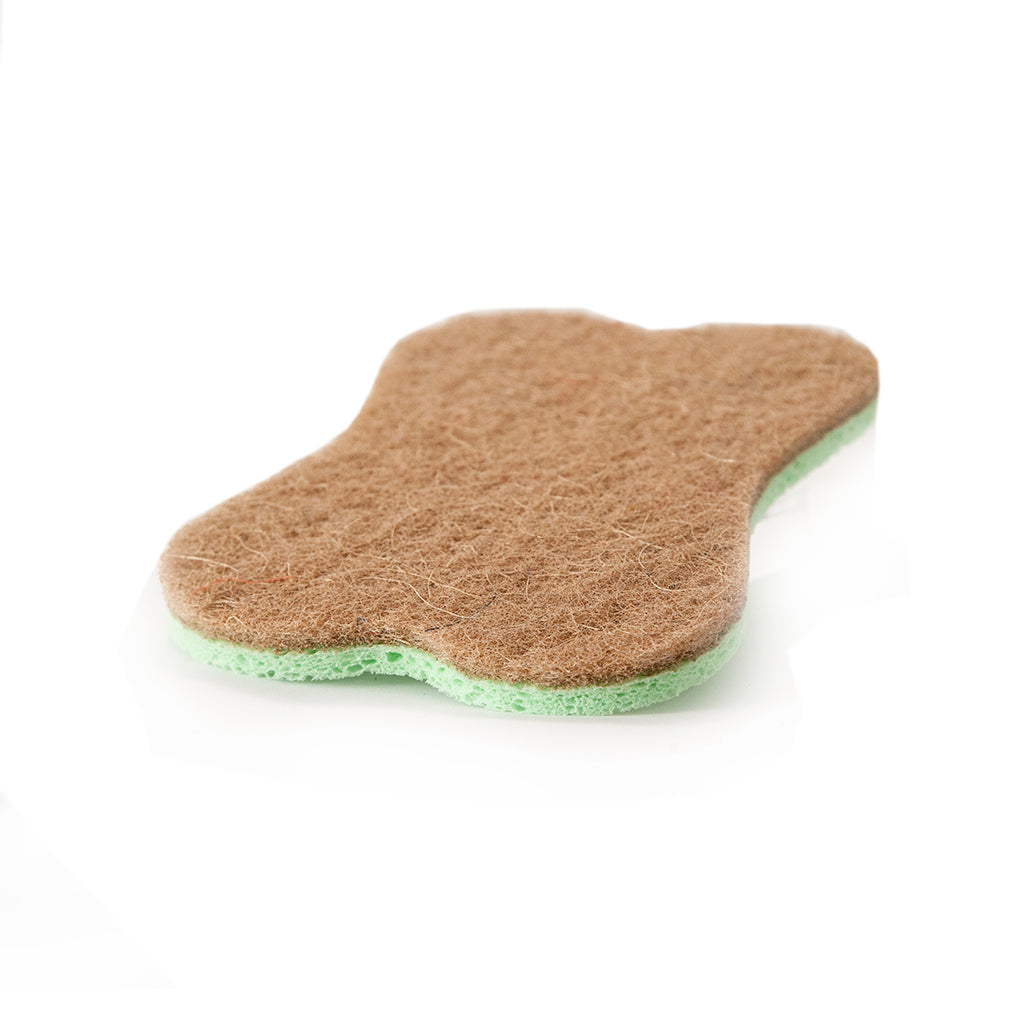 LARGE NATURAL ECO-FRIENDLY MULTI-SURFACE KITCHEN AND DISH SPONGE