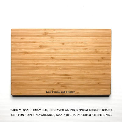 Personalized Cutting Board - Hand lettered Heart | Capitals