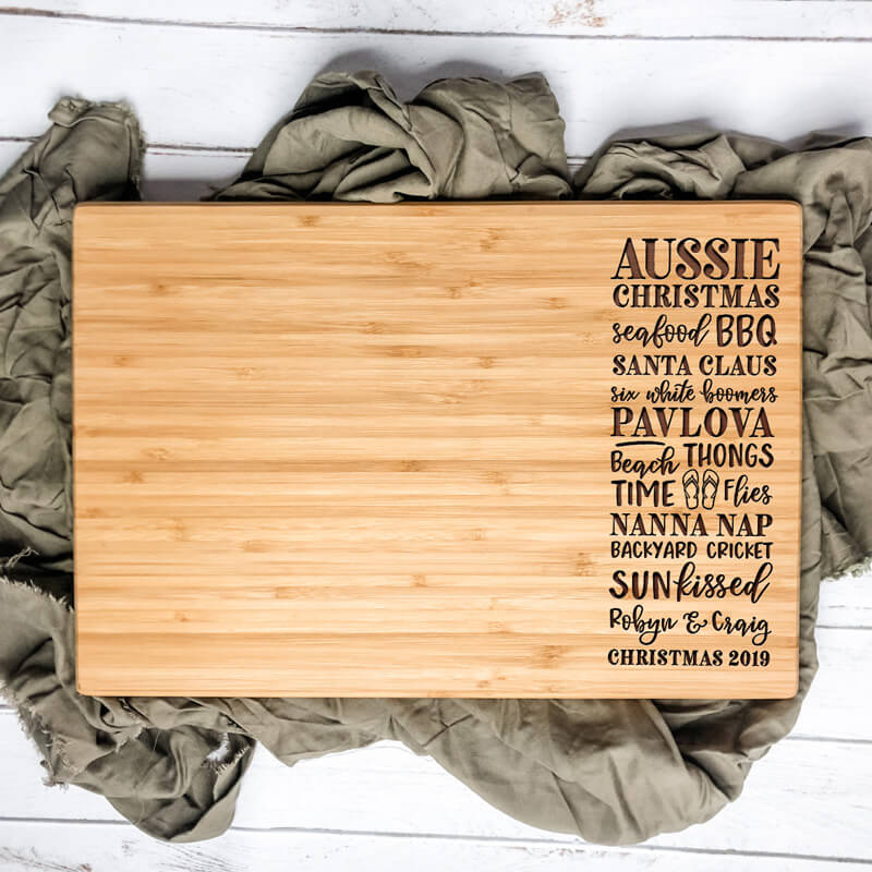 Personalised Cutting Board - Aussie Christmas