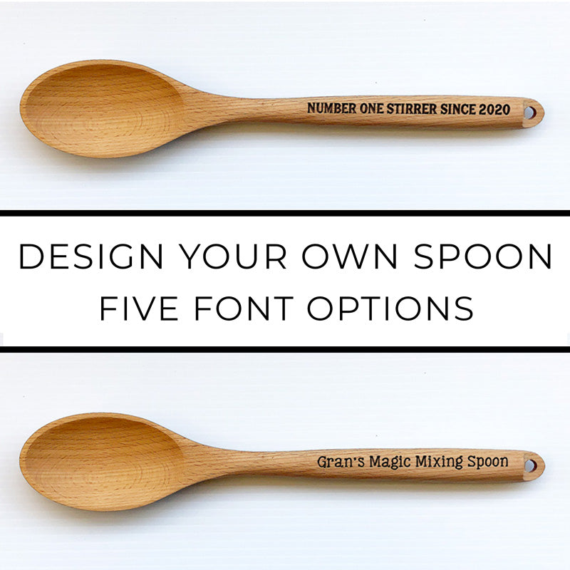 Design-Your-Own Beechwood Spoon