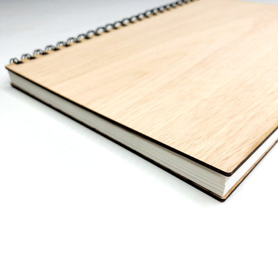 Wooden Wedding Guest Book - Simple Signature