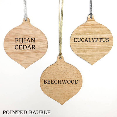 Our First Christmas Family Wooden Christmas Ornament
