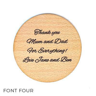Design Your Own Coaster - Personalised Wooden Coaster - Custom Design