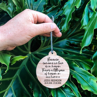 'Heaven in our Home' Christmas Ornament | Modern Version