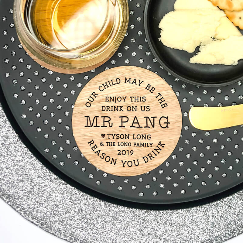 Personalised Teacher Wooden Coaster -  Cheers Teacher