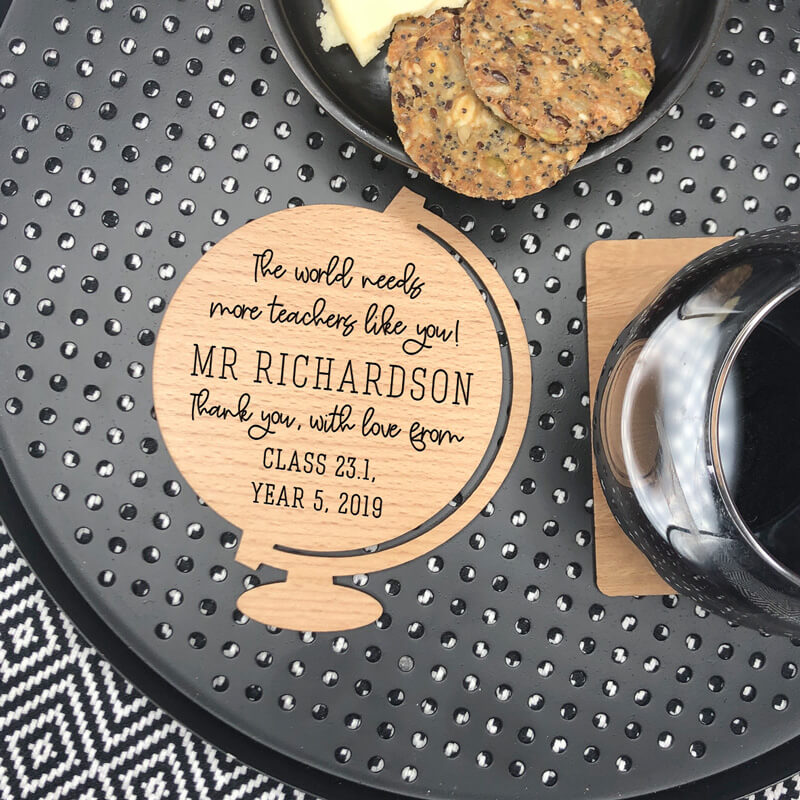 Personalised Teacher Wooden Coaster -  Teacher's Like You
