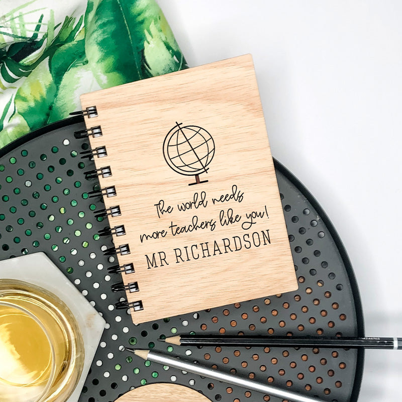 Wooden Engraved Note Book - Teacher Like You