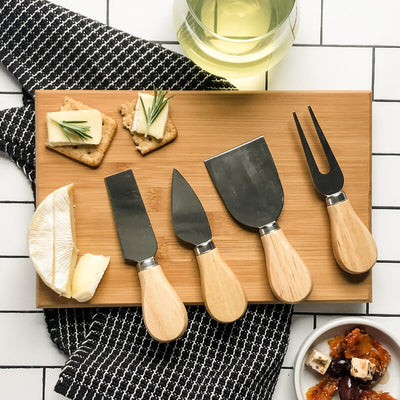 Boxed Wooden Handled Cheese Knife - Set of four