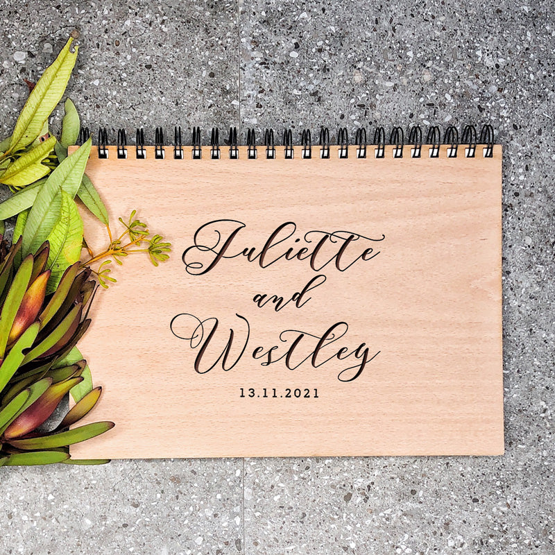 Wooden Wedding Planning Book - Swirl Together