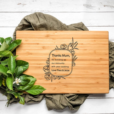 Personalised Cutting Board - Thanks Mum